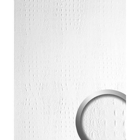 Panel decorativo autoadhesivo de diseño piel de cocodrilo WallFace 13407 CROCO con relieve color blanco mate 2,60 m2