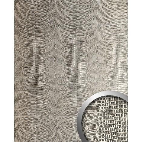 Panel decorativo autoadhesivo de diseño piel de iguana WallFace 12893 LEGUAN color beige gris plateado 2,60 m2