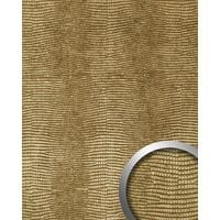 Panel decorativo autoadhesivo de lujo diseño piel de iguana WallFace 13478 LEGUAN con relieve 3D color dorado 2,60 m2