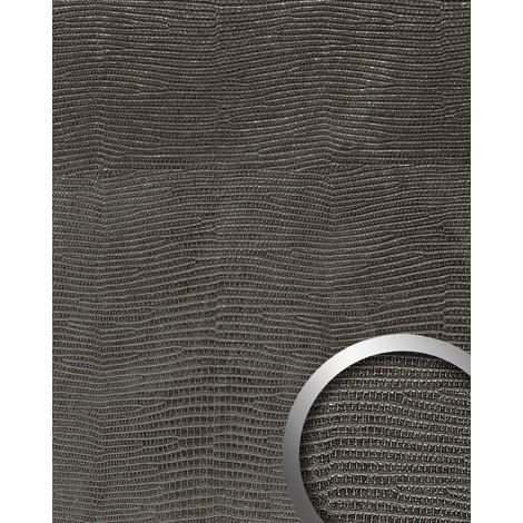 Panel decorativo autoadhesivo de lujo diseño piel de iguana WallFace 14797 LEGUAN con relieve 3D negro 2,60 m2