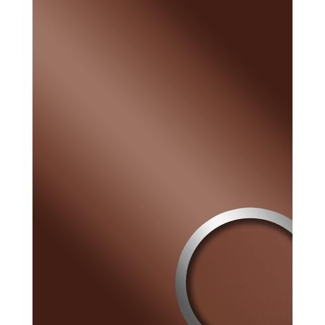 Panel decorativo autoadhesivo de lujo Efecto de espejo brillante marrón WallFace 15275 DECO BRONZE 2,60 m2
