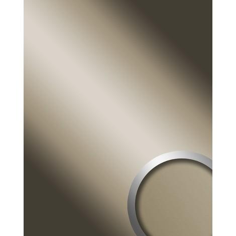 Panel decorativo autoadhesivo de lujo Efecto de espejo WallFace 12430 DECO CHAMPAGNE brillante gris claro 2,60 m2