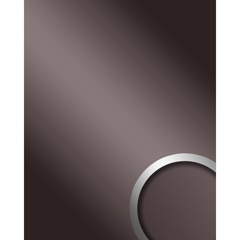 Panel decorativo autoadhesivo de lujo WallFace 10125 DECO ANTHRACITE Efecto de espejo brillante antracita 2,60 m2