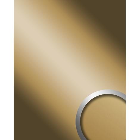 Panel decorativo autoadhesivo de lujo WallFace 11504 DECO GOLD Diseño de espejo Optica brillante dorado 2,60 m2