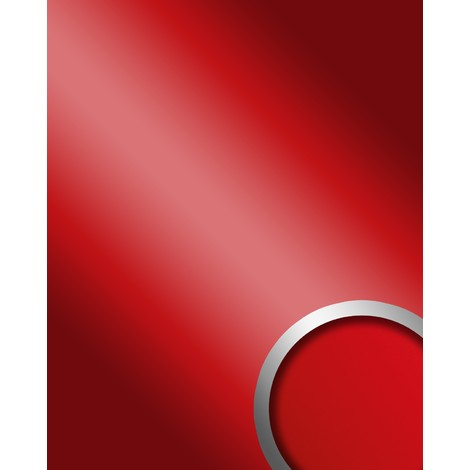 Panel decorativo autoadhesivo de lujo WallFace 13807 DECO FASHION Efecto de espejo brillante sexy rojo 2,60 m2