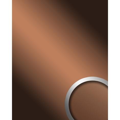 Panel decorativo autoadhesivo de lujo WallFace 17273 DECO COPPER Efecto de espejo brillante marrón 2,60 m2