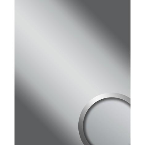 Panel decorativo autoadhesivo Espejo WallFace 15421 DECO SILVER Brillante resistente a la abrasión plateado 2,60 m2