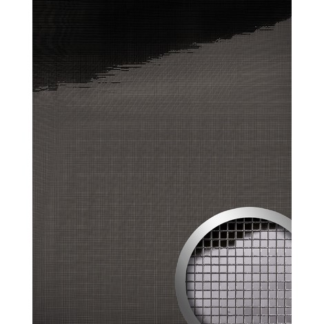 Panel decorativo autoadhesivo flexible mosaico cuadrado XS WallFace 13357 M-Style efecto espejo antracita 0,96 m2