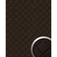 Panel decorativo autoadhesivo polipiel acolchada WallFace 15037 ROMBO Rombos pespunte de imitación marrón 2,60 m2
