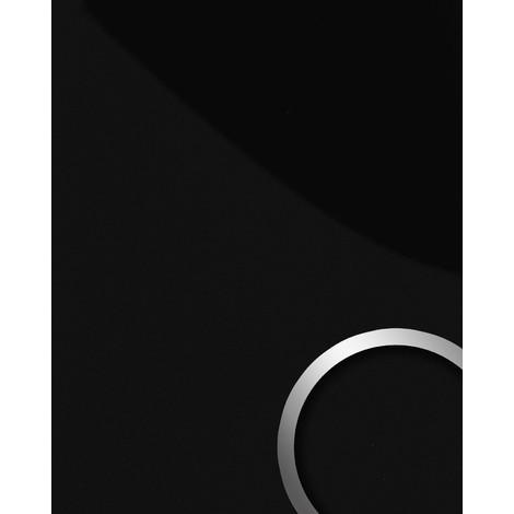 Panel decorativo autoadhesivo resistente a la abrasión WallFace 15423 DECO MAGIC Ligeramente brillante negro 2,60 m2
