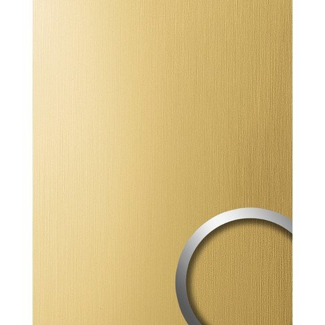 Panel decorativo autoadhesivo resistente al rallado aspecto metal cepillado WallFace 15298 DECO oro amarillo mate 2,6m2