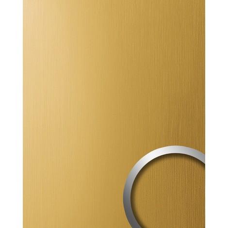 Panel decorativo autoadhesivo resistente al rallado aspecto metal cepillado WallFace 15299 DECO oro mate 2,60 m2