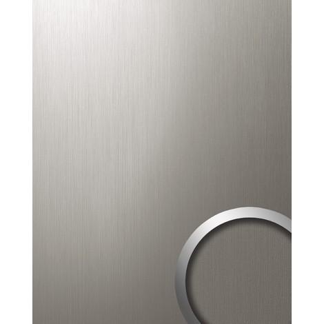 Panel decorativo autoadhesivo resistente WallFace 12431 DECO al rallado aspecto metal cepillado titanio 2,60 m2