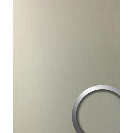 Panel decorativo autoadhesivo resistente WallFace 12433 DECO al rallado aspecto metal cepillado champán 2,60 m2