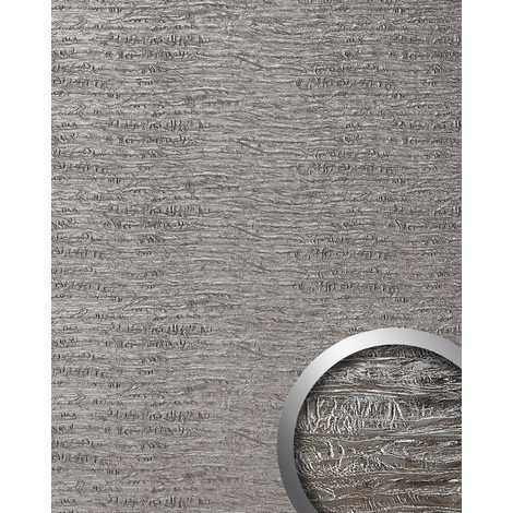 Panel decorativo autoadhesivo textura madera WallFace 15659 PERSIAN TREASURE vieja aspecto metal color plata 2,60 m2