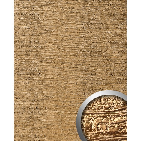 Panel decorativo autoadhesivo textura madera WallFace 15660 PERSIAN TREASURE vieja aspecto metal color oro 2,60 m2
