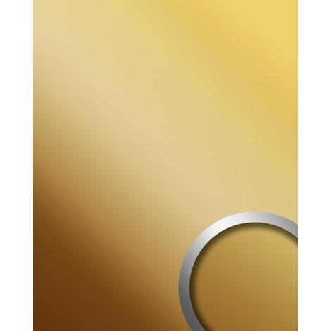 Panel decorativo autoadhesivo WallFace 10139 DECO BRASS Efecto de espejo brillante latón 2,60 m2