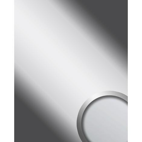 Panel decorativo autoadhesivo WallFace 10324 DECO SILVER Optica espejo brillante plateado 2,60 m2