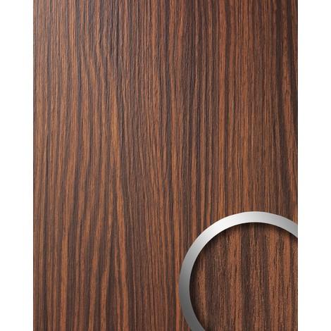 Panel decorativo autoadhesivo WallFace 12441 WOOD MAKASSAR de diseño ébano con relieve marrón medio y oscuro 2,60 m2