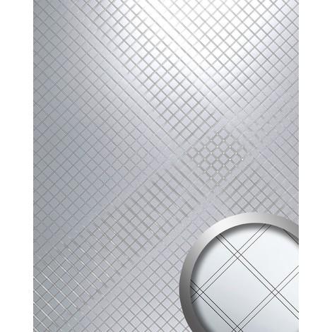 Panel decorativo Revestimiento mural autoadhesivo Espejo mosaico plateado WallFace 14281 M-Style RHOMBUS 2,60 m2