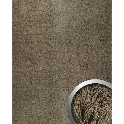 Panel decorativo WallFace 14325 PELZ MARABU Autoadhesivo aspecto peluche plumaje color negro pardo 2,60 m2