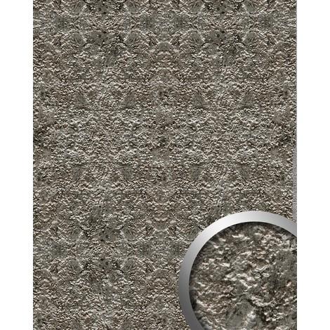 Panel decorativo WallFace 14804 LAVA Autoadhesivo de diseño piedra y efecto metal color gris roca y plata 2,60 m2