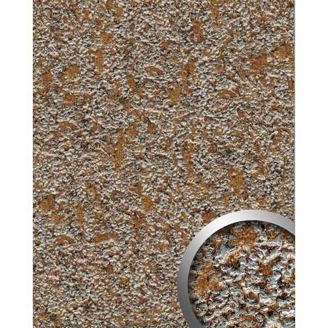Panel decorativo WallFace 14805 LAVA Autoadhesivo de diseño piedra y efecto metal color gris roca y cobre 2,60 m2