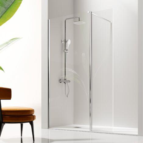 Panel fijo de ducha + Puerta Abatible GIRO
