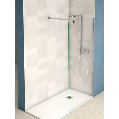 Panel fijo para ducha cromo transparente
