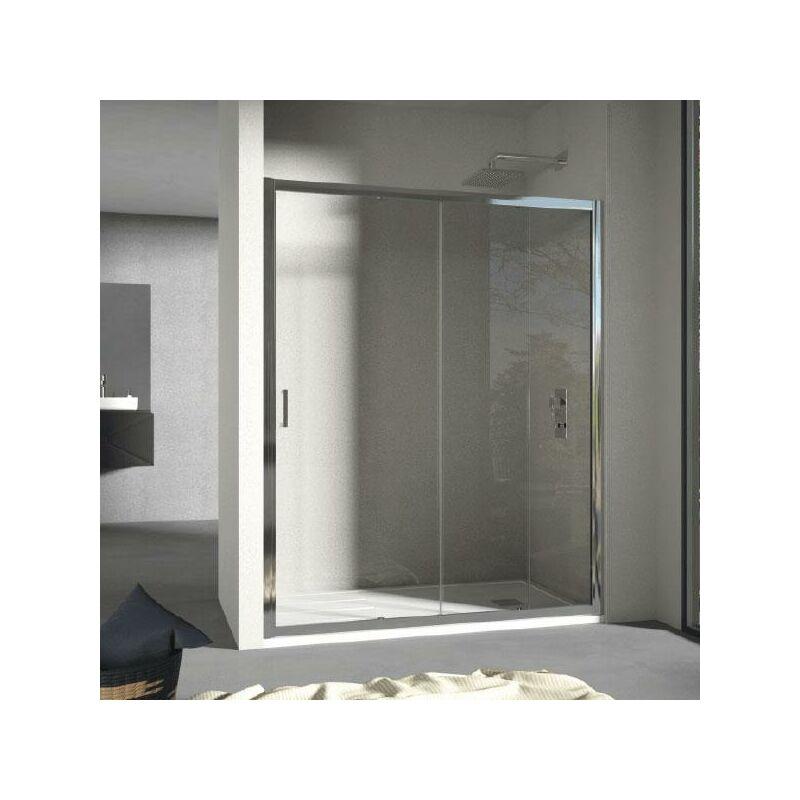 Mundilite - Panel Fijo + Puerta Corredera GRANT DECORADO 140 cm Lateral fijo: 90 cm
