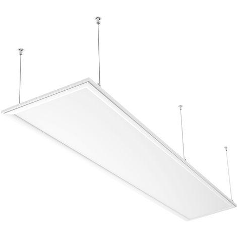 Panel LED 120×30cm - 60W Equivalente a 250W, 4500 lúmenes Pantallas LED de Techo, Blanco Cálido (2800-3200K), Plafón LED Interior/Oficina