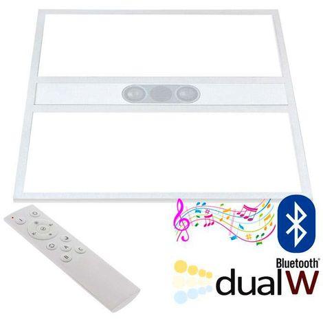 Panel LED 40W, Blanco DUAL + AUDIO BLUETOOTH, RF, 60x60cm, Blanco dual, regulable
