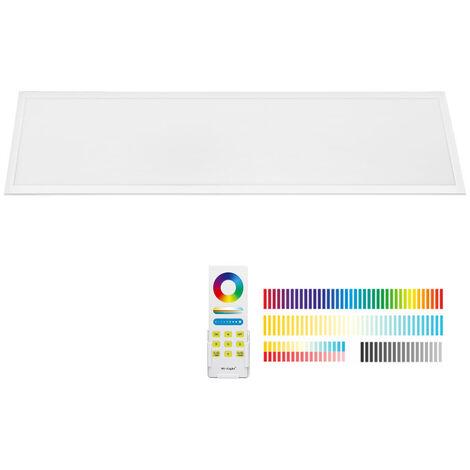 Panel LED 40W, FUT045A, RGB + CCT, RF, 30x120cm, RGB + Blanco dual, regulable