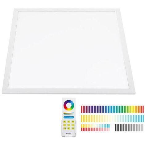 Panel LED 40W, FUT045A, RGB + CCT, RF, 60x60cm, RGB + Blanco dual, regulable