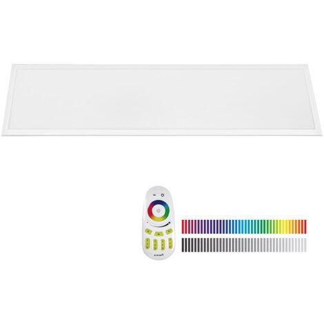 Panel LED 40W, RGB+CW, RF, 30x120cm, RGB + Blanco frío, regulable