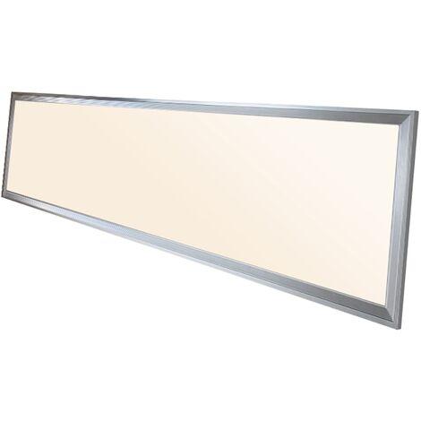 Panel LED 42W 120x30cm 3000K lámpara de techo plafón luminaria luz blanco cálido