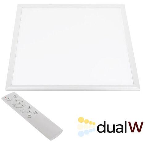 Panel LED 45W, Blanco DUAL, RF, 60x60cm, Blanco dual, regulable