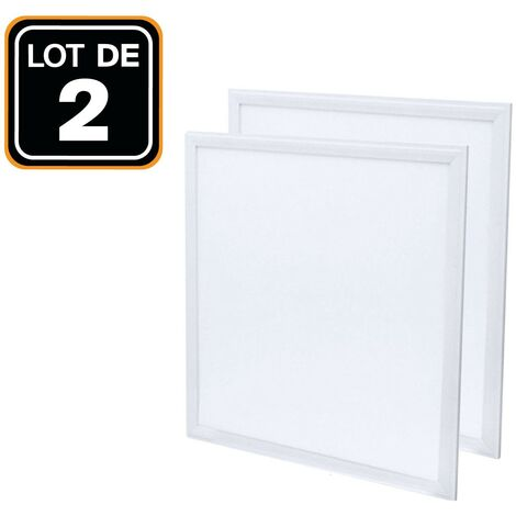 Panel led 600 x 600 40 W lote de 2 piezas Blanco neutro 4000 K Alta luminosidad - Varios modelos disponibles