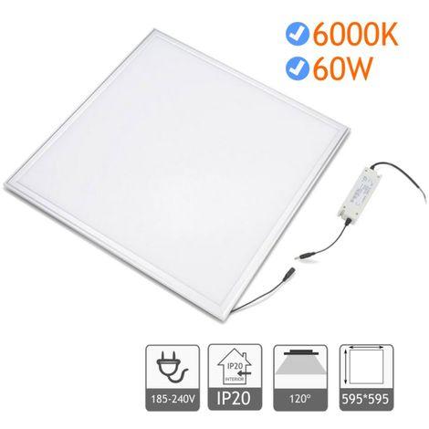panel led 60W 60x60cm 6000K marco blanco