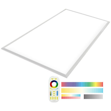 Panel LED 65W, RGB + Blanco DUAL, RF, 60x120cm, RGB + Blanco dual, regulable