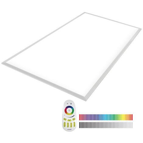 Panel LED 65W, RGB+CW, RF, 60x120cm, RGB + Blanco frío, regulable - RGB + Blanco frío