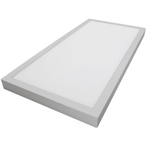 Panel Led de superficie marco níquel 48W 4080Lm 6000°K 1200x300x35mm. (GSC 0705264)