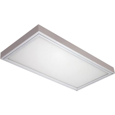 PANEL LED EMPOTABLE/SUPERFICIE 60X30 24W ALUMINIO