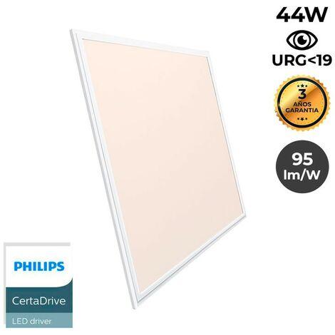 Panel LED empotrable slim 60X60cm 42W 3300lm marco blanco