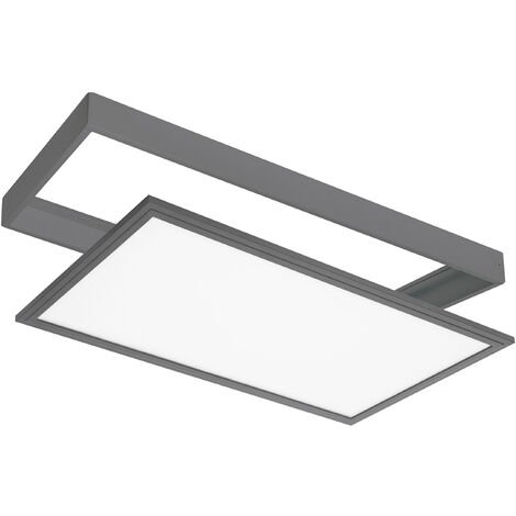 PANEL LED EXTERIOR EMPOTRABLE/SUPERFICIE 24W IP44 GRIS ANTRACITA