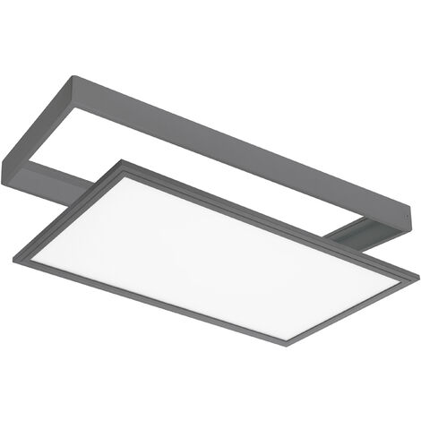 PANEL LED EXTERIOR EMPOTRABLE/SUPERFICIE 24W IP44 GRIS - SULION