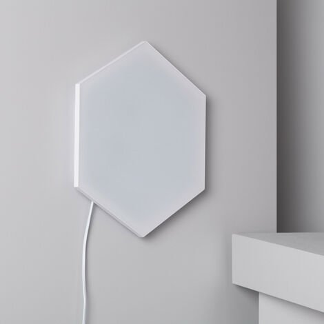 Panel LED Hexagonal 18x18cm 10W 800lm Base Principal Blanco Neutro 4000K - 4500K - Blanco Neutro 4000K - 4500K