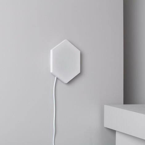 Panel LED Hexagonal 9x9cm 3.5W 200lm Base Principal Blanco Neutro 4000K - 4500K - Blanco Neutro 4000K - 4500K