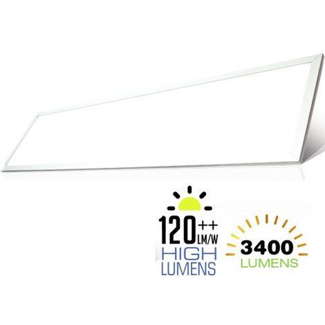 Panel LED HIGH LUMEN 29W 1200 mm x 300 mm 120° driver incluido