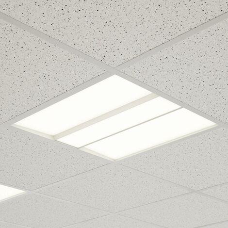 Panel LED Malo, techos de rejilla, 62 cm x 62 cm